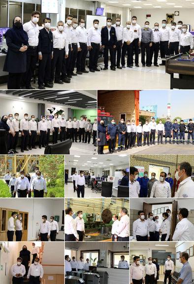 بازدید مدیرعامل پتروشیمی پردیس از واحدهای مختلف شرکت در اولین روز کاری سال ۱۴۰۰