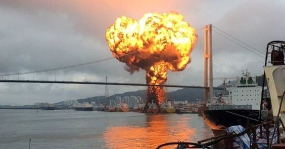 South Korea tanker oil fire: Sailor fighting for life and 9injured in huge blast.